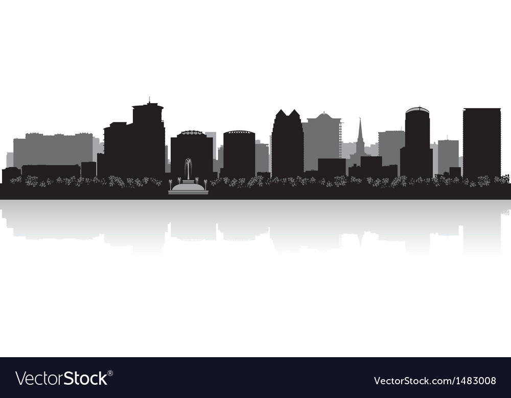 Orlando usa city skyline silhouette vector | Price: 1 Credit (USD $1)