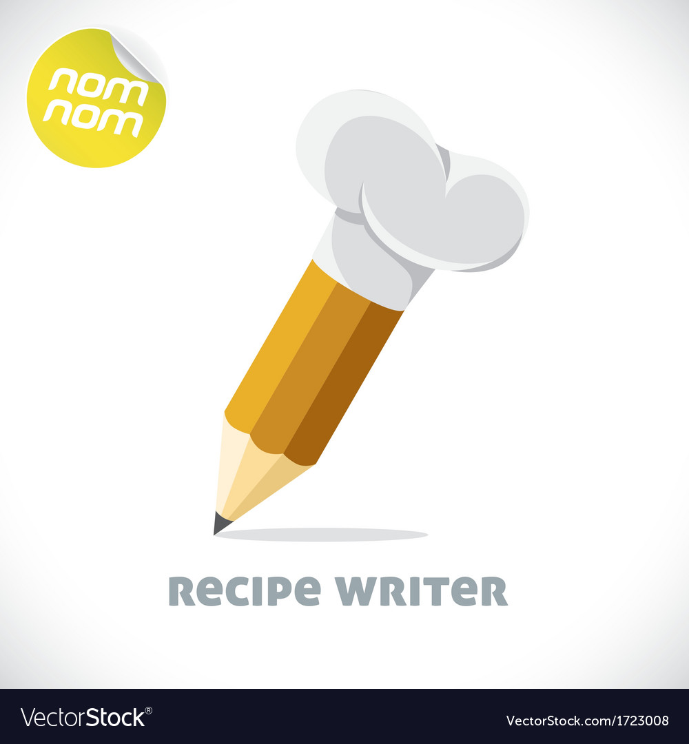 Recipe writer vector | Price: 1 Credit (USD $1)