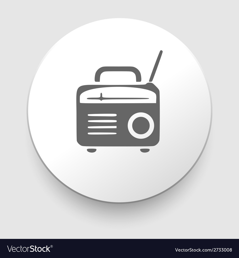 Retro radio icon silhouette vector | Price: 1 Credit (USD $1)