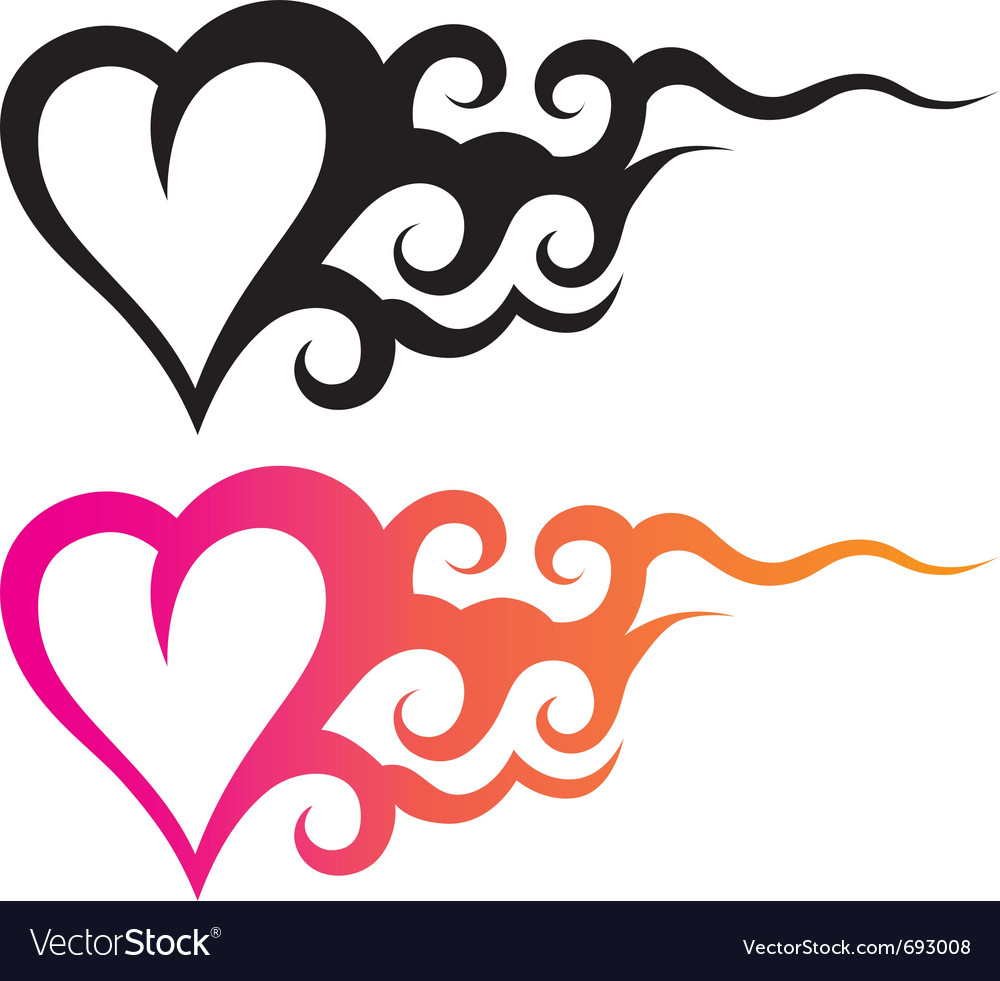 Tattoo heart vector | Price: 1 Credit (USD $1)