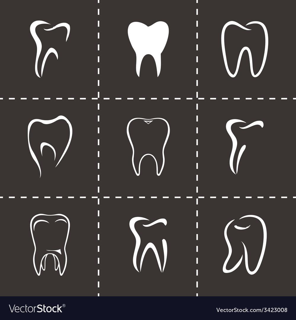 Teeth icon set vector   Price: 1 Credit (USD $1)