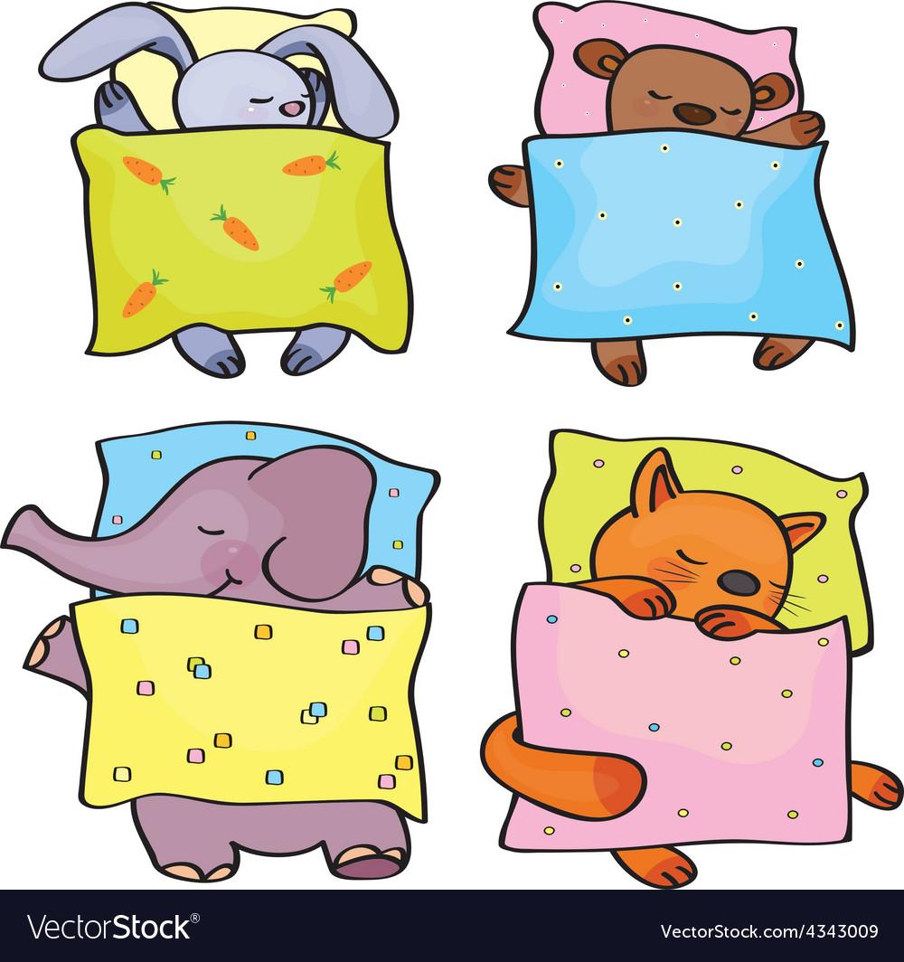 Animals sleeping vector | Price: 1 Credit (USD $1)