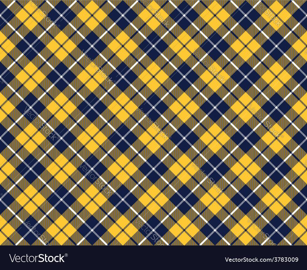 Blue orange tartan fabric texture diagonal pattern vector | Price: 1 Credit (USD $1)