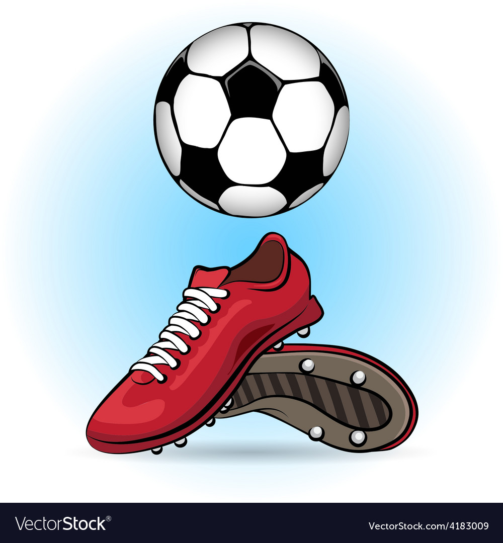 Boots and ball vector | Price: 1 Credit (USD $1)