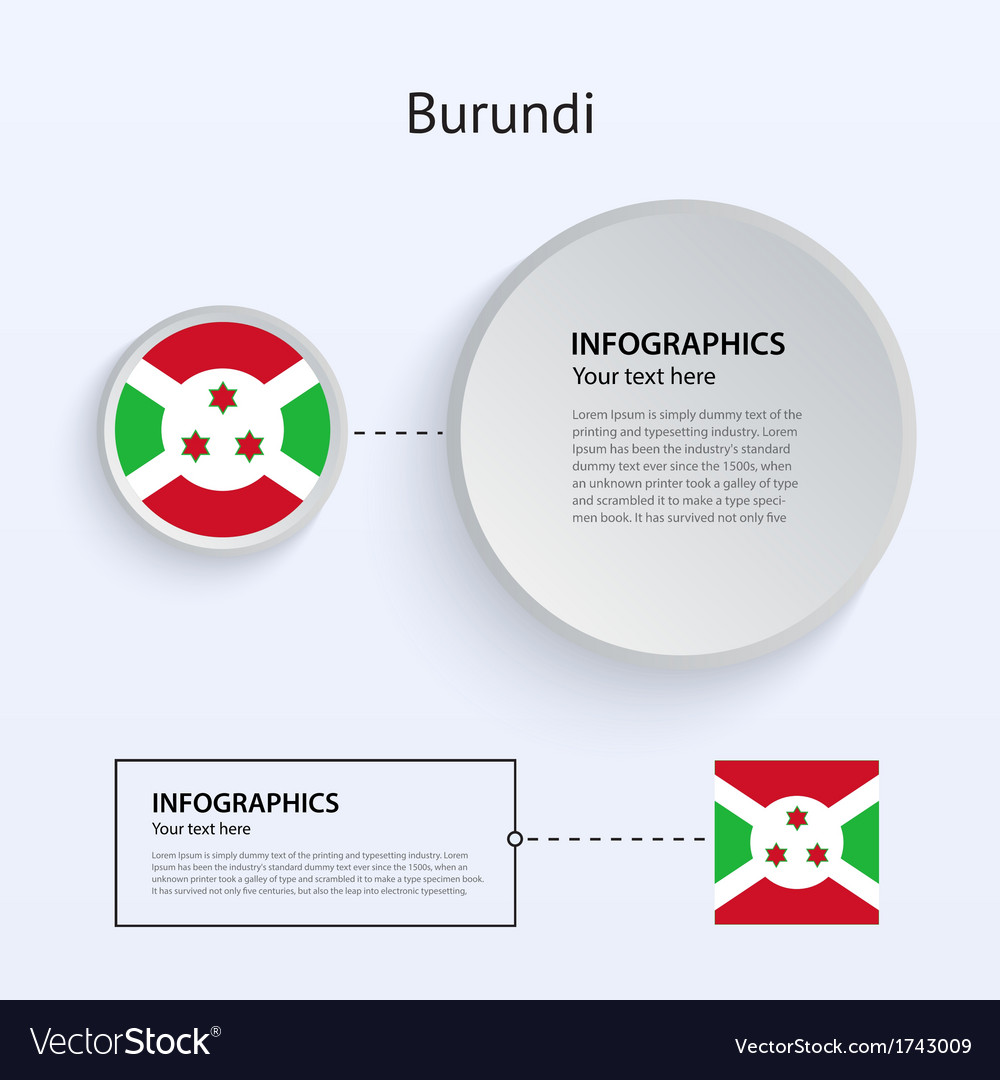 Burundi country set of banners vector | Price: 1 Credit (USD $1)