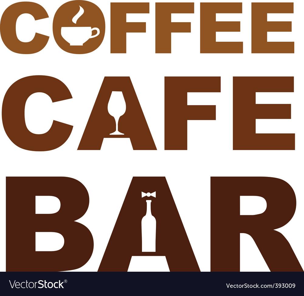 Coffee cafe bar vector | Price: 1 Credit (USD $1)
