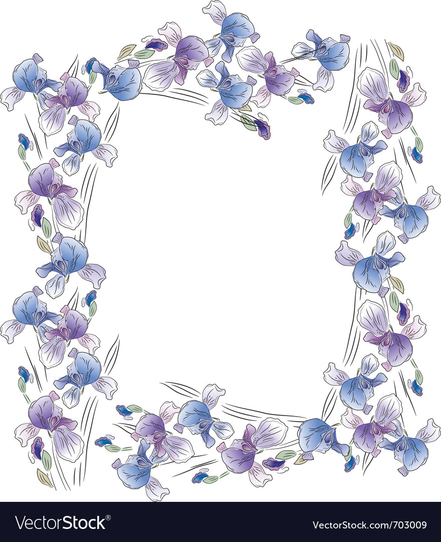 Frame with irises vector | Price: 1 Credit (USD $1)