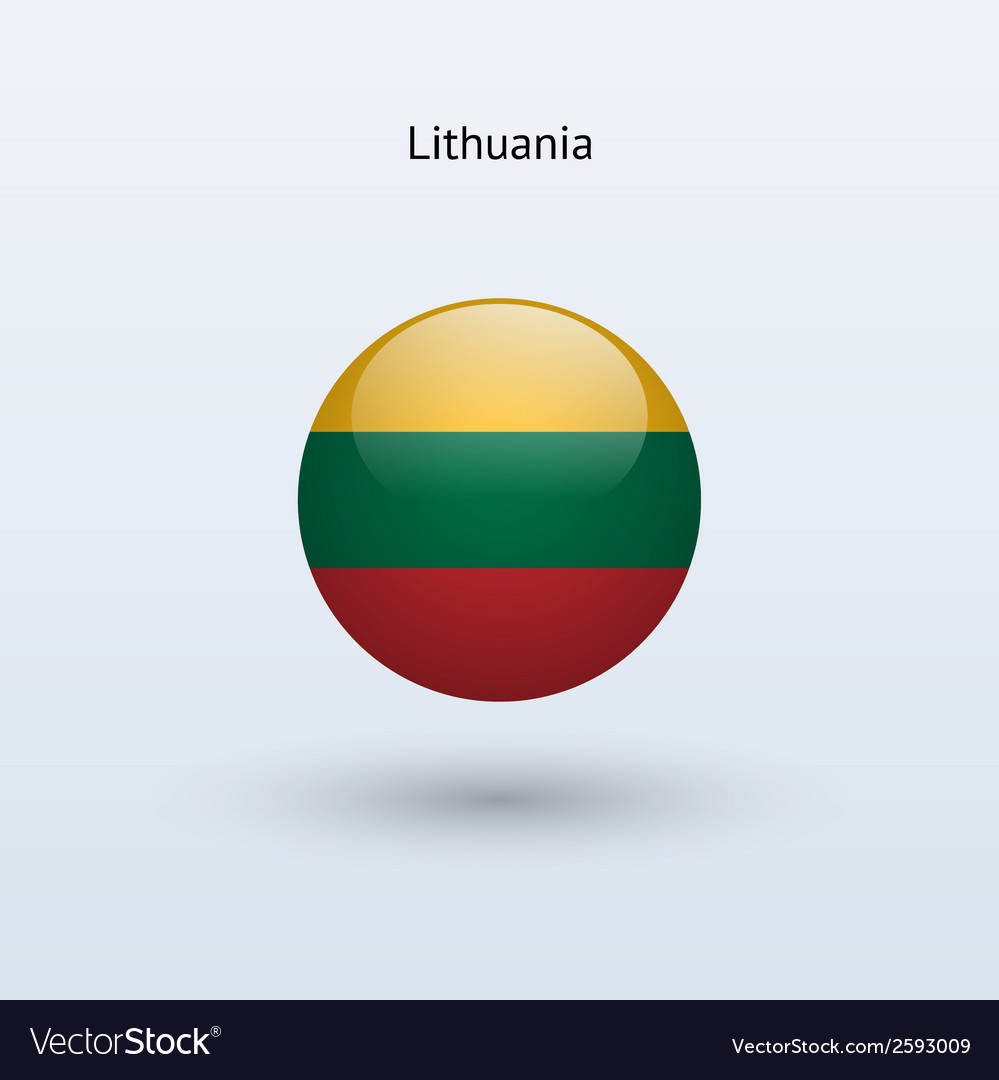 Lithuania round flag vector | Price: 1 Credit (USD $1)