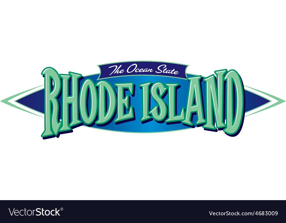 Rhode island the ocean state vector | Price: 1 Credit (USD $1)