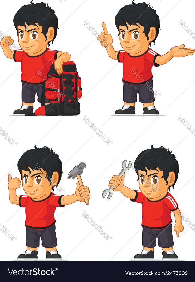 Soccer boy customizable mascot 11 vector | Price: 1 Credit (USD $1)