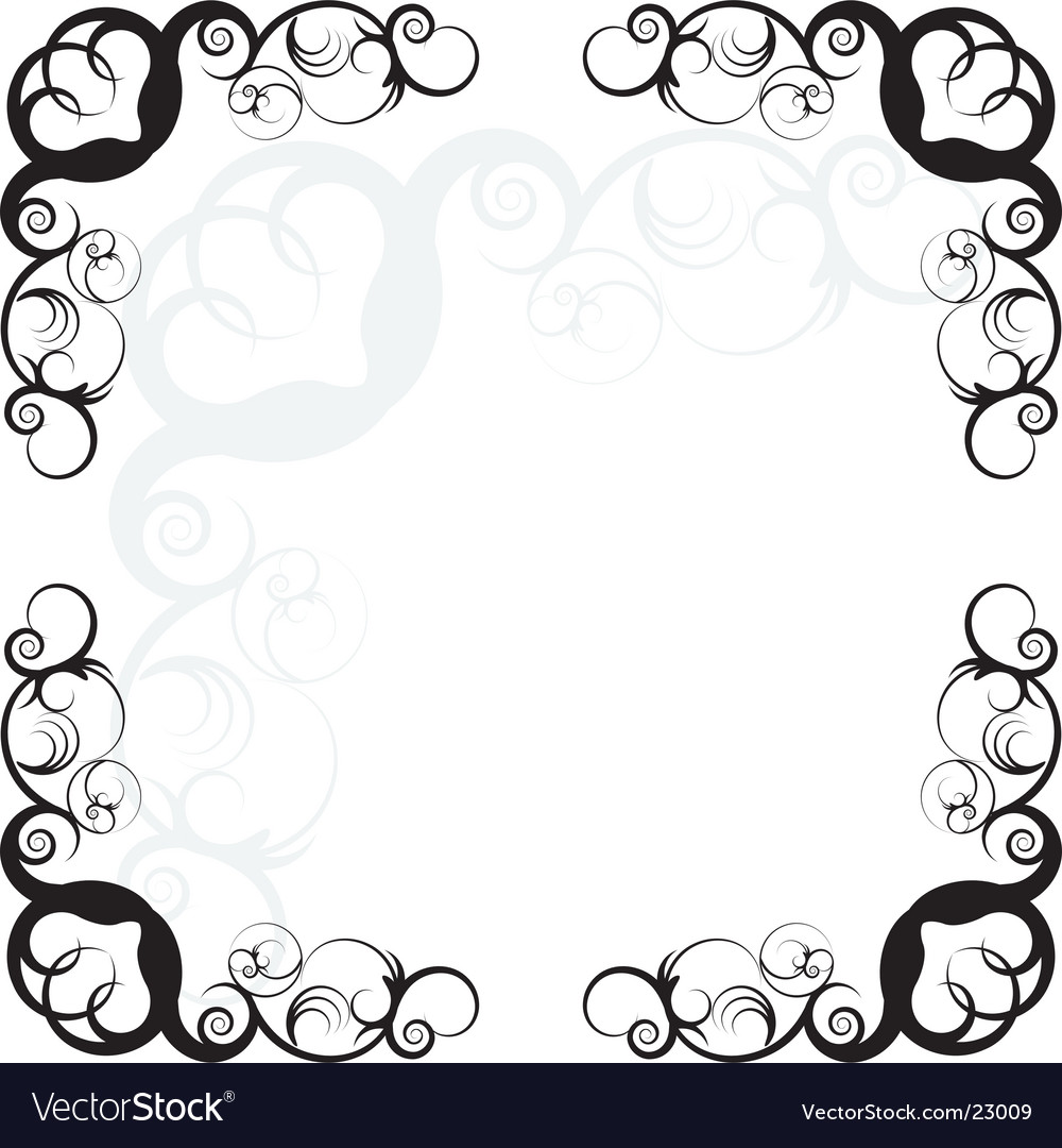 Swirly boarder vector | Price: 1 Credit (USD $1)