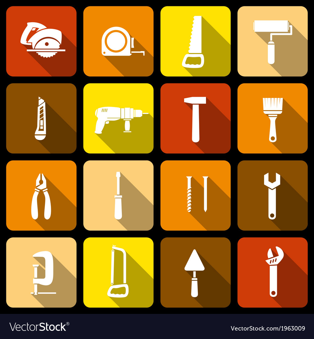 Tools icons set vector | Price: 1 Credit (USD $1)