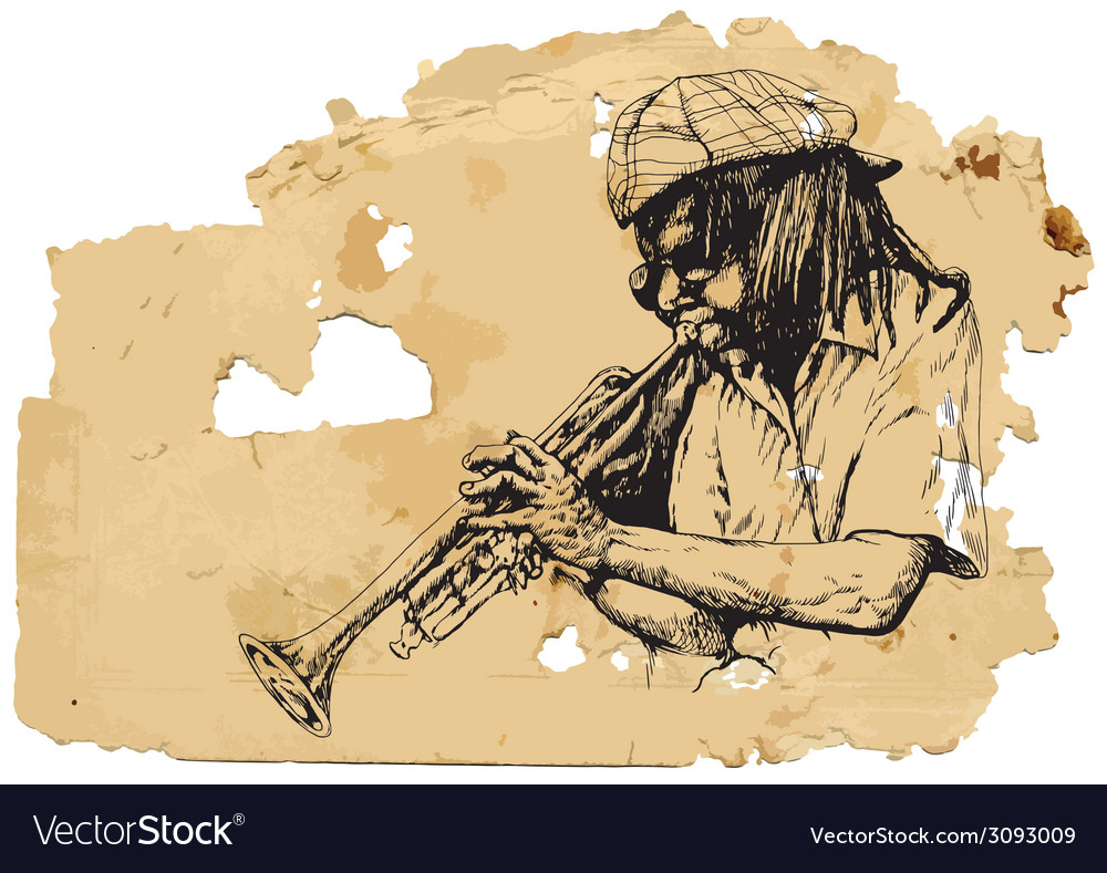 Trumpeter vector | Price: 1 Credit (USD $1)