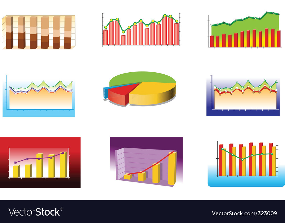 Various graphs vector | Price: 3 Credit (USD $3)