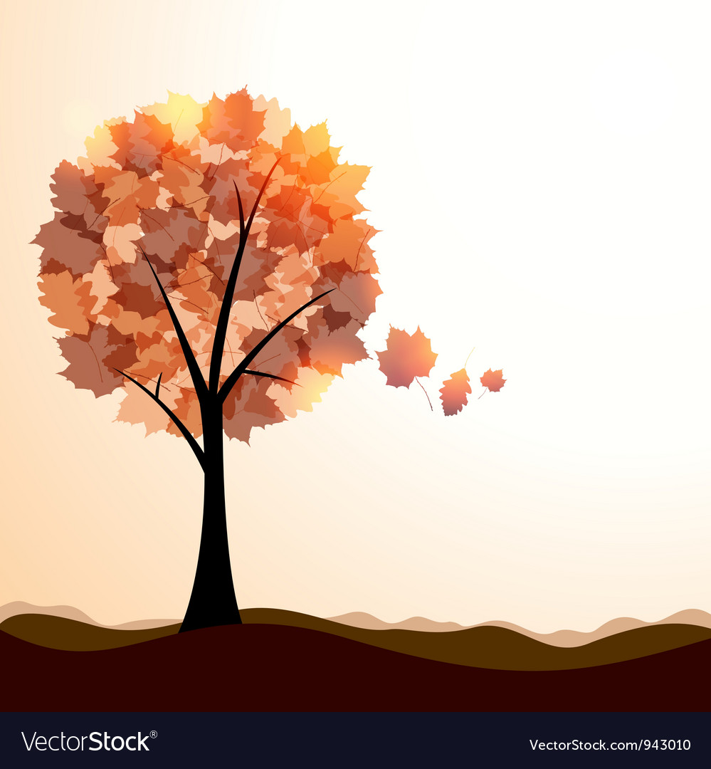 Artistic autumn landscape vector | Price: 1 Credit (USD $1)