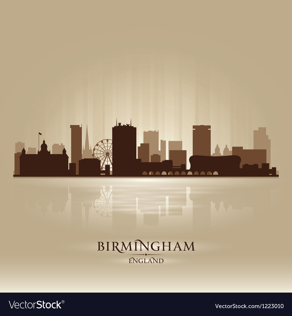 Birmingham england skyline city silhouette vector | Price: 1 Credit (USD $1)