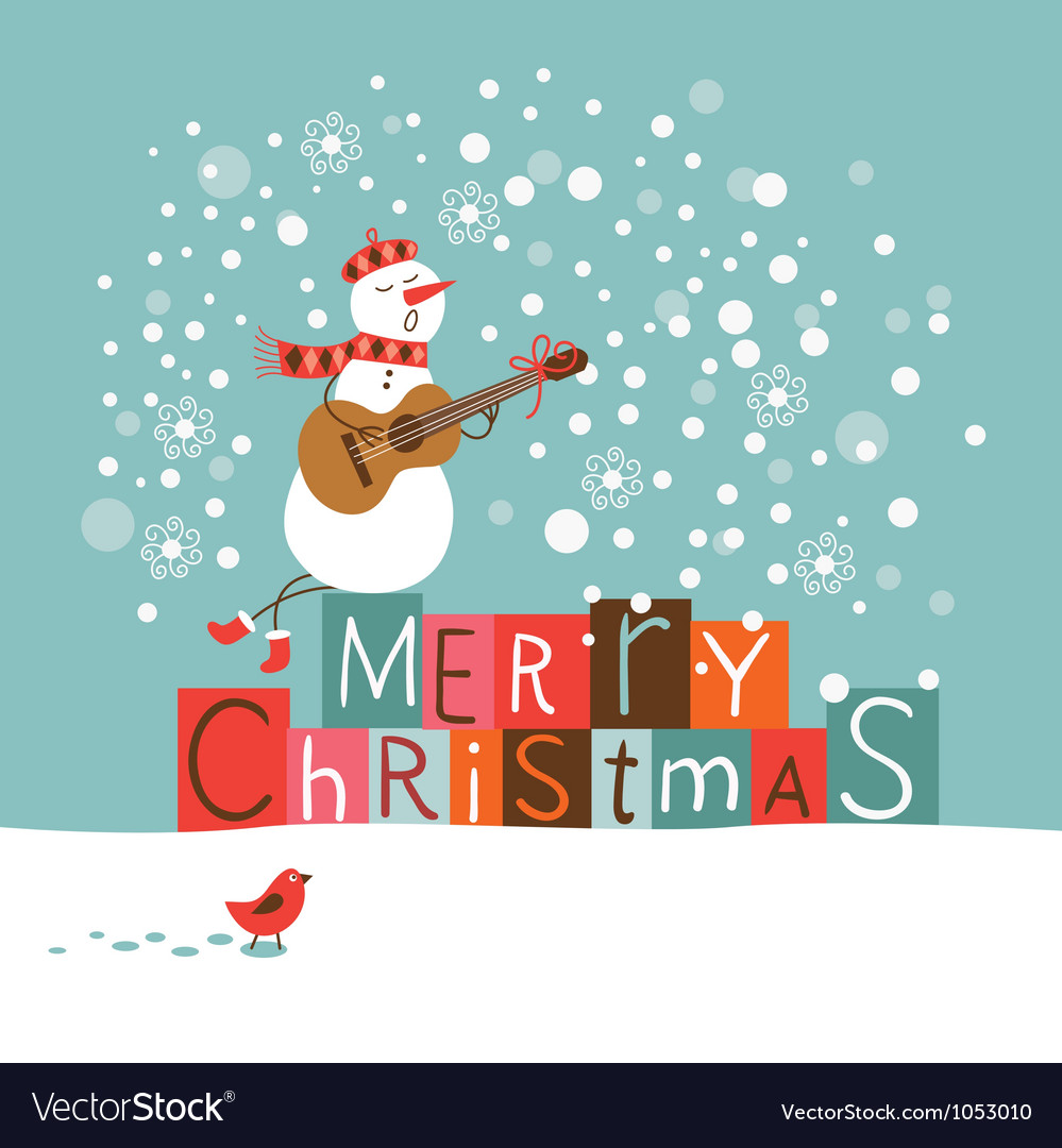Christmas and new year card vector | Price: 3 Credit (USD $3)