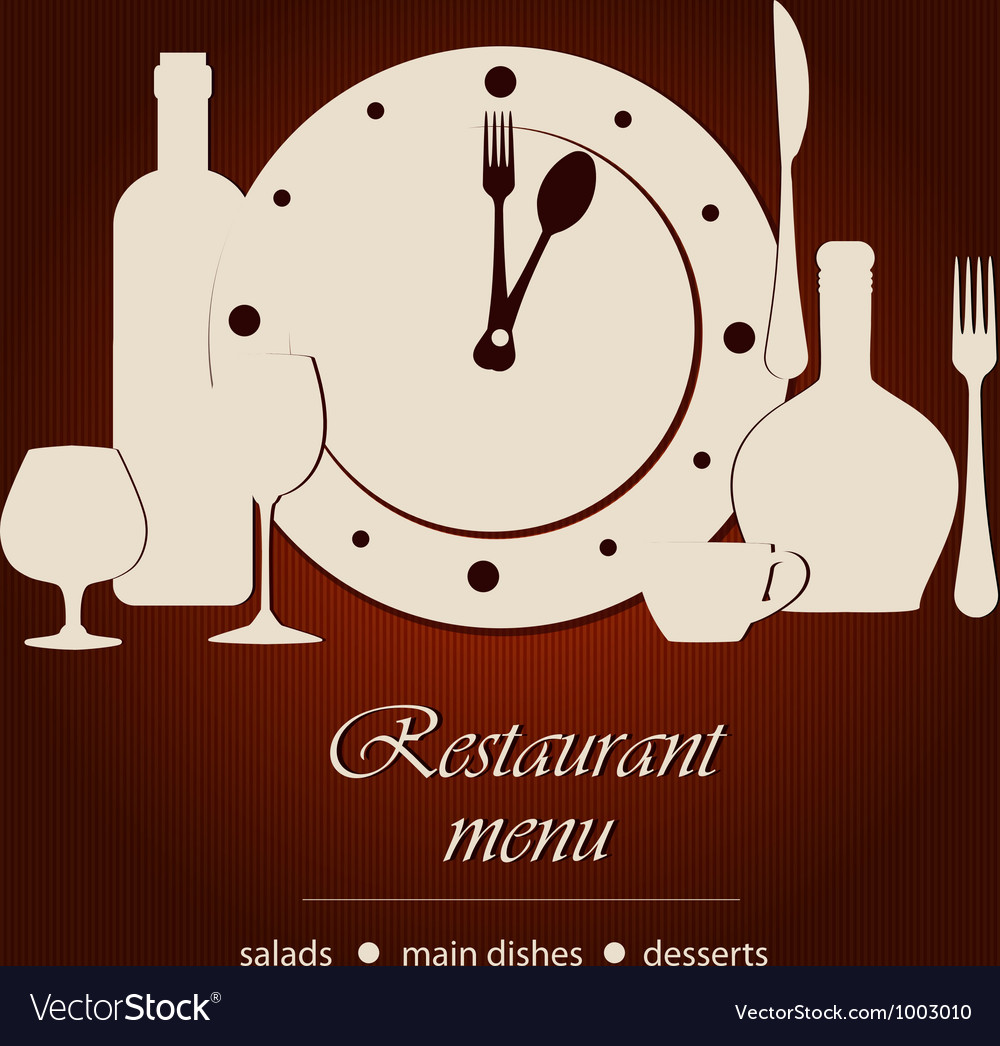 Dinner time vector | Price: 1 Credit (USD $1)