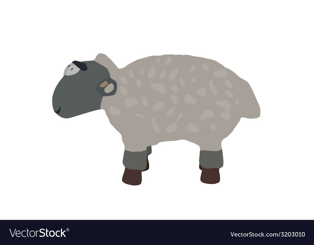 Funny lamb isolated on white background eps10 vector | Price: 1 Credit (USD $1)