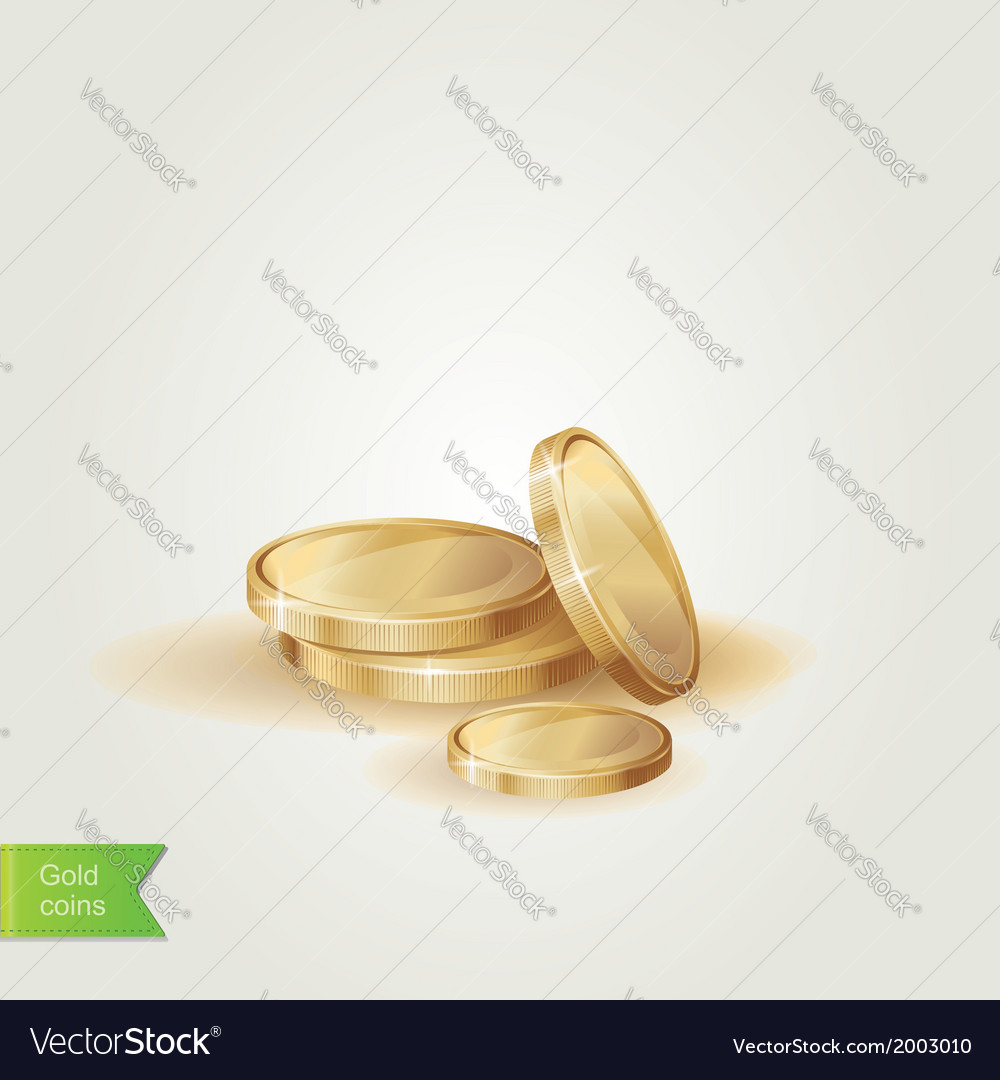 Golden coins isolated vector | Price: 1 Credit (USD $1)
