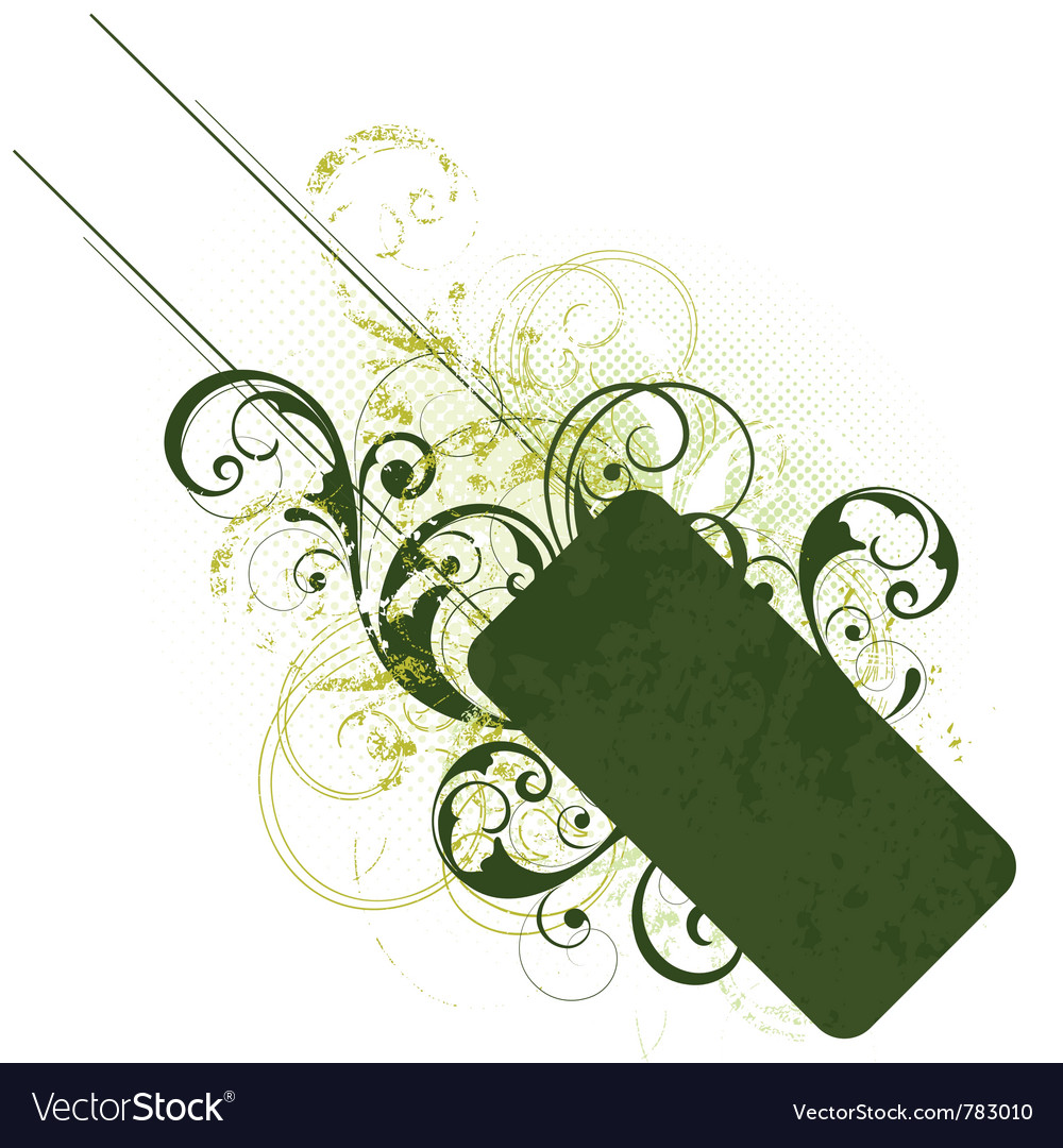 Green floral design vector | Price: 1 Credit (USD $1)
