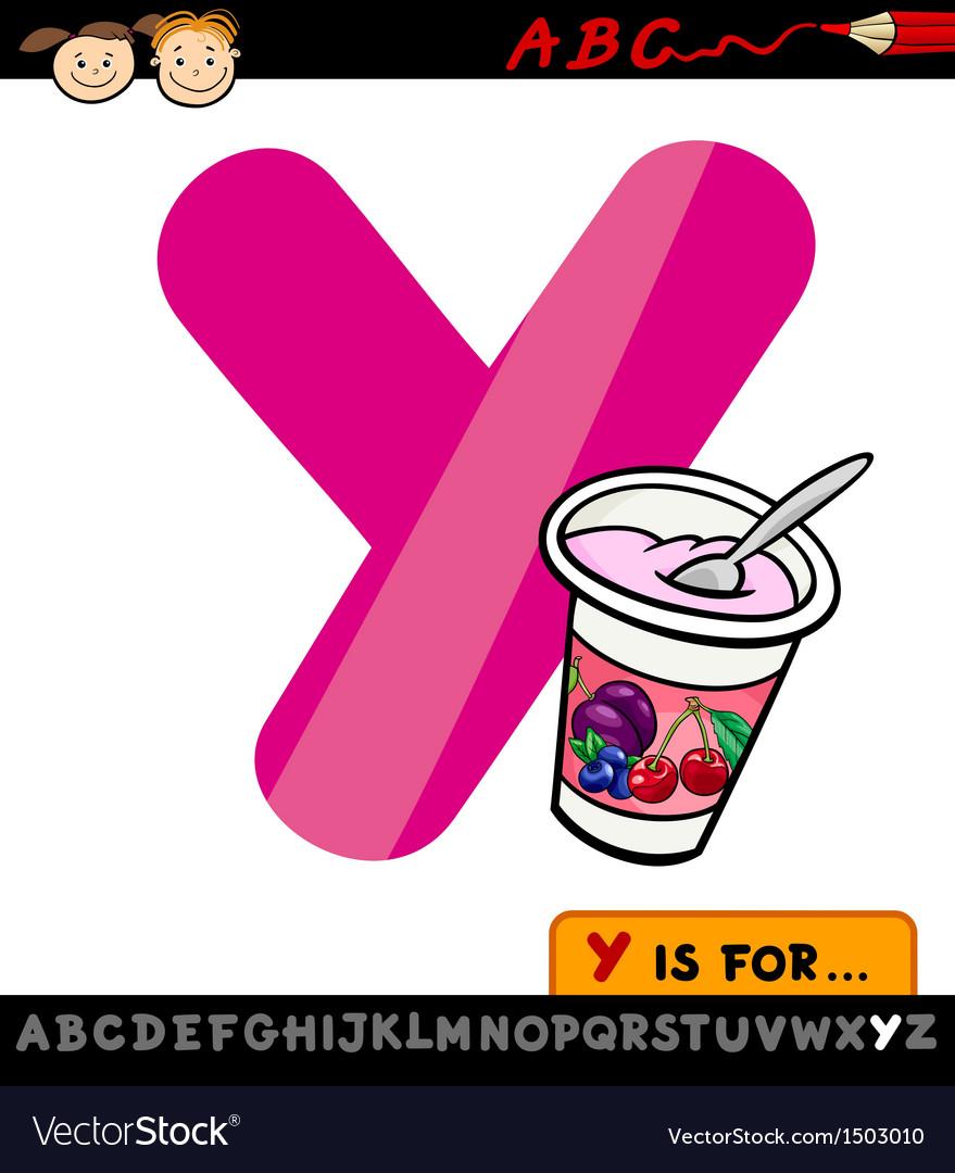 Letter y with yogurt cartoon vector | Price: 1 Credit (USD $1)