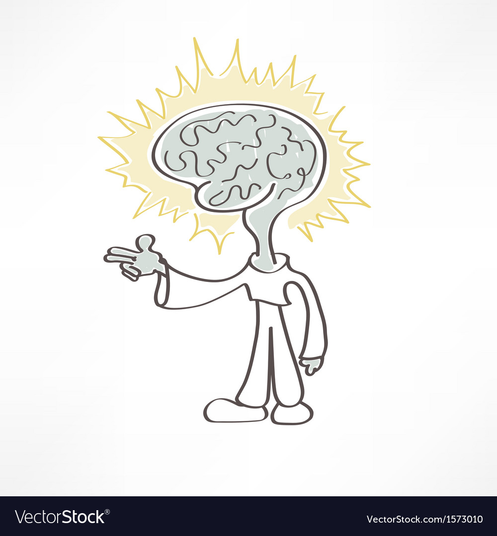 Man brain icon vector | Price: 1 Credit (USD $1)