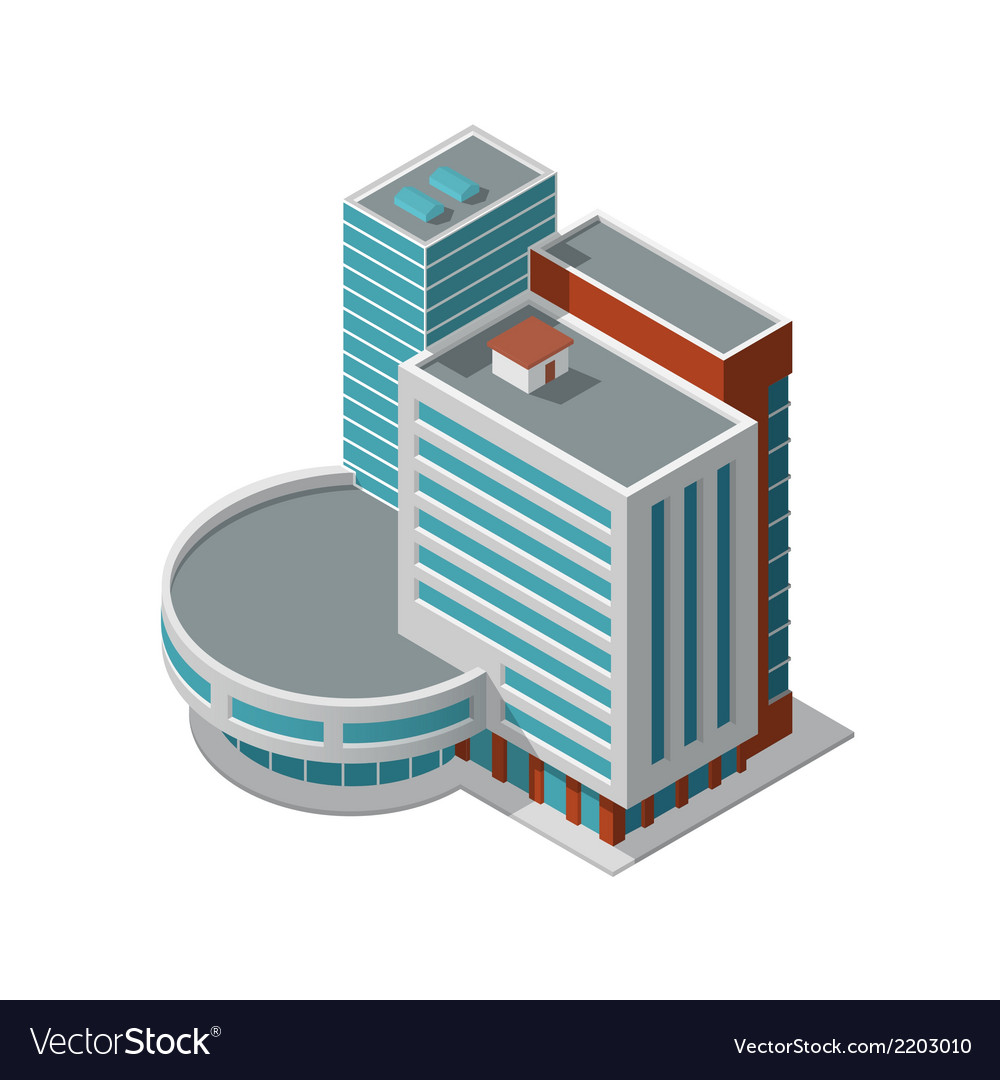Office building isometric vector | Price: 1 Credit (USD $1)