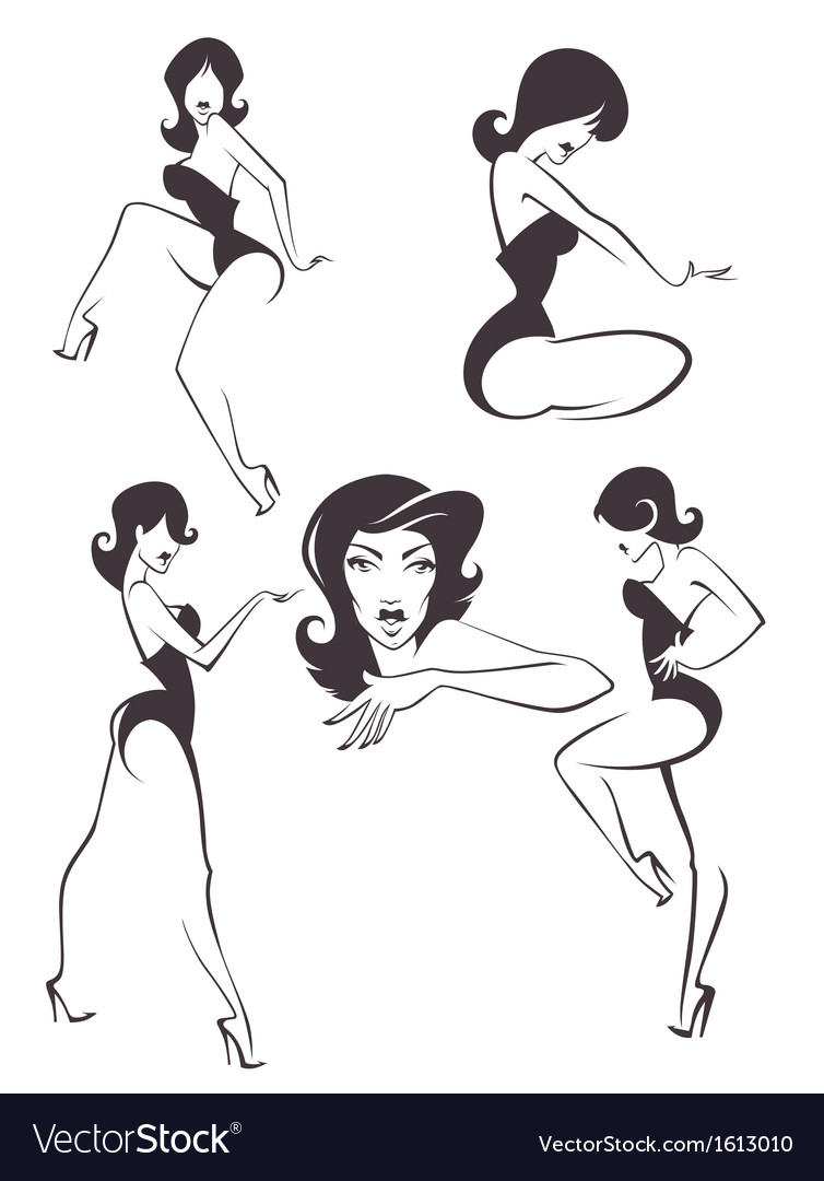 Pin up girls vector | Price: 1 Credit (USD $1)