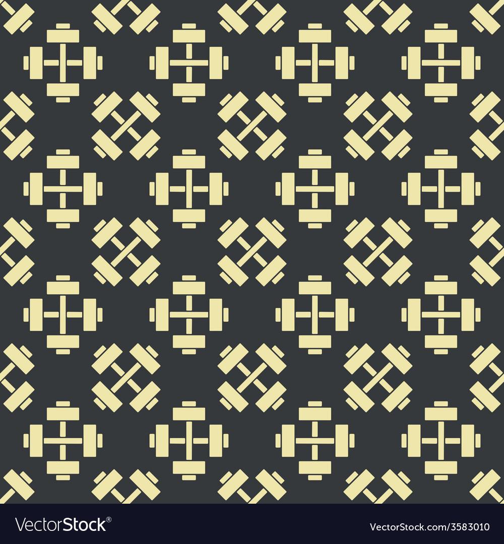 Retro gym seamless pattern vector | Price: 1 Credit (USD $1)