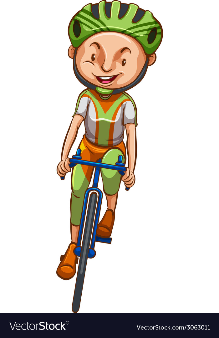 A sketch of a boy riding a bicycle vector | Price: 1 Credit (USD $1)