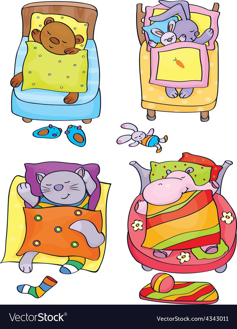 Animals sleep vector | Price: 1 Credit (USD $1)