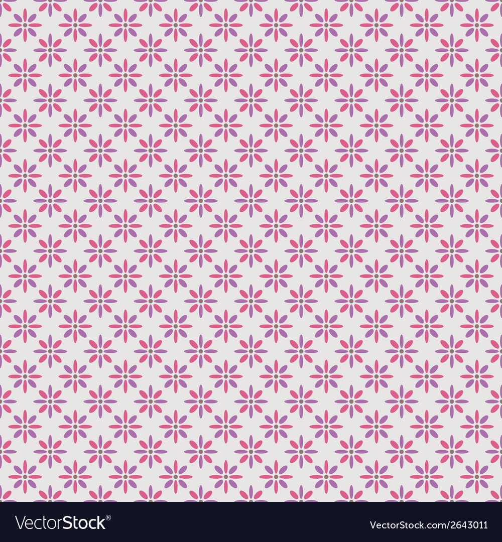 Beautiful seamless pattern tiling pink purple vector | Price: 1 Credit (USD $1)