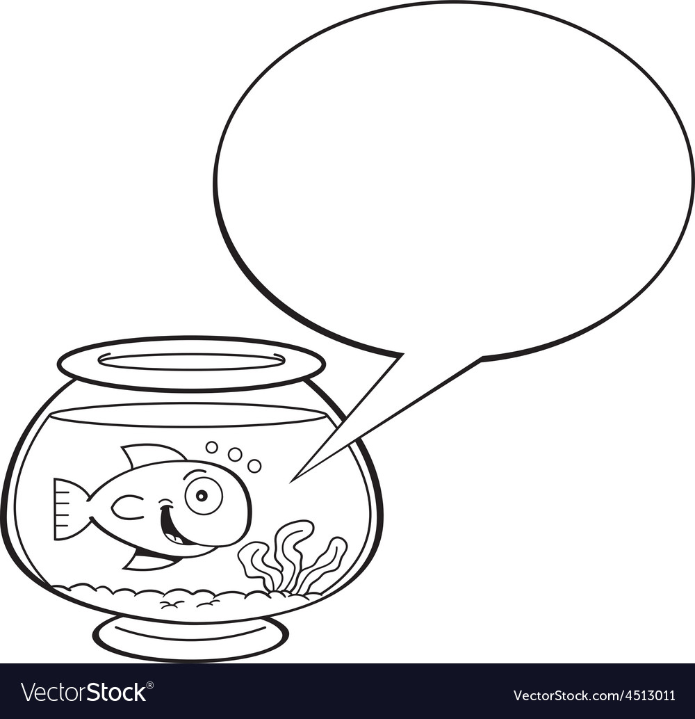 Cartoon fishbowl with a caption balloon vector | Price: 1 Credit (USD $1)