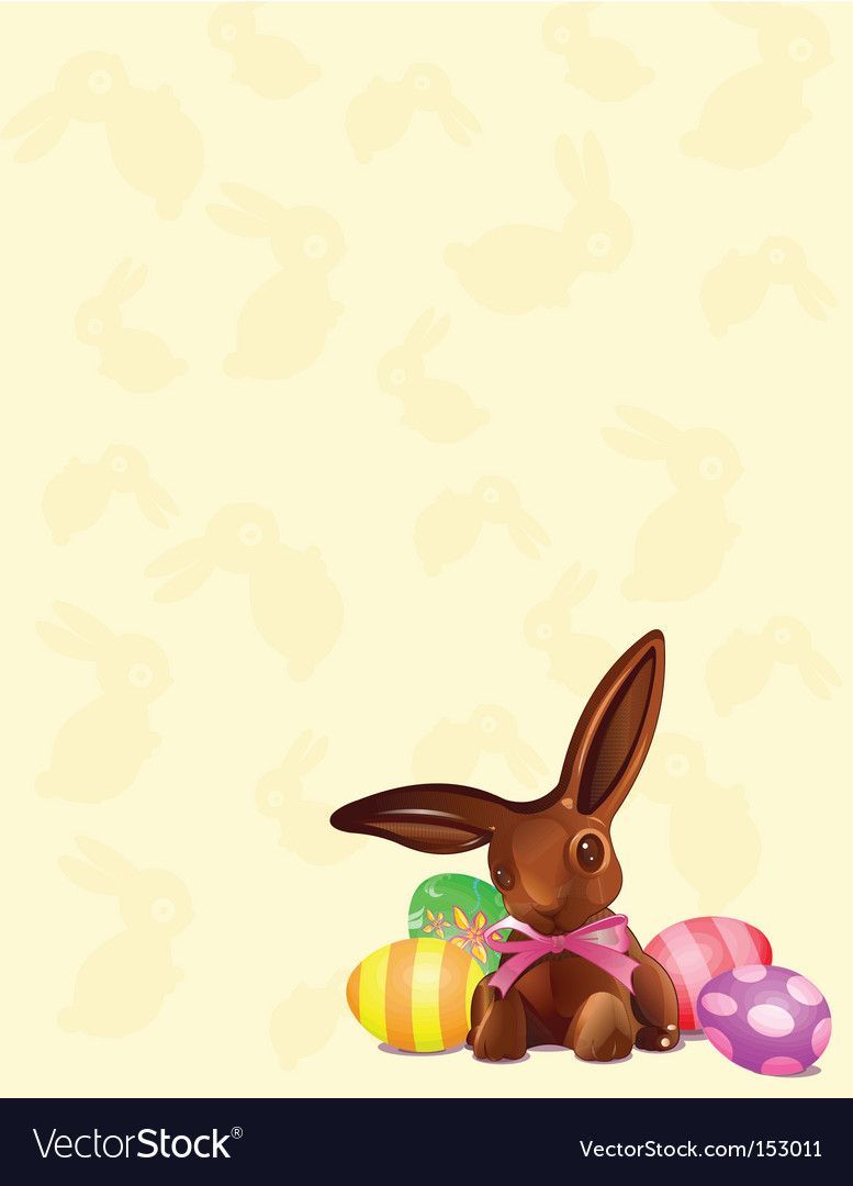 Chocolate easter bunny background vector | Price: 1 Credit (USD $1)
