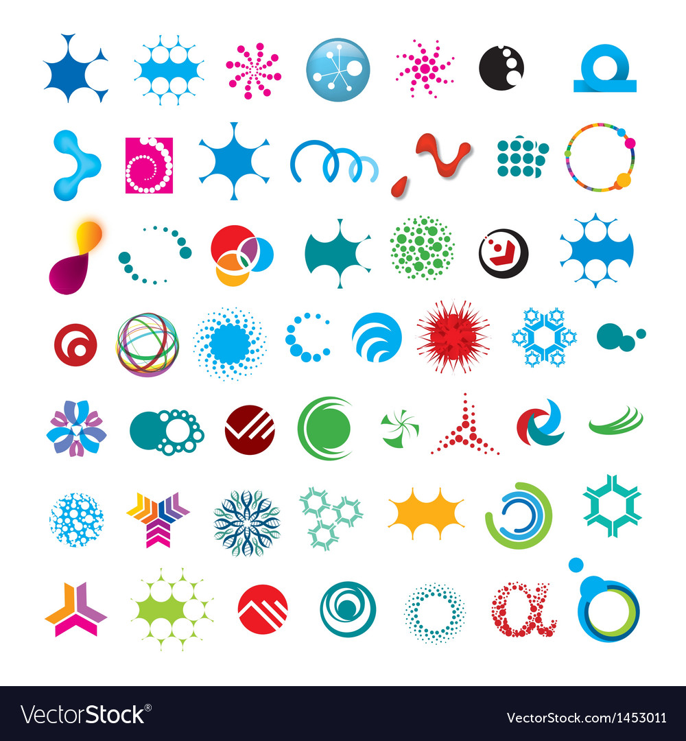Collection of abstract universal character vector | Price: 1 Credit (USD $1)