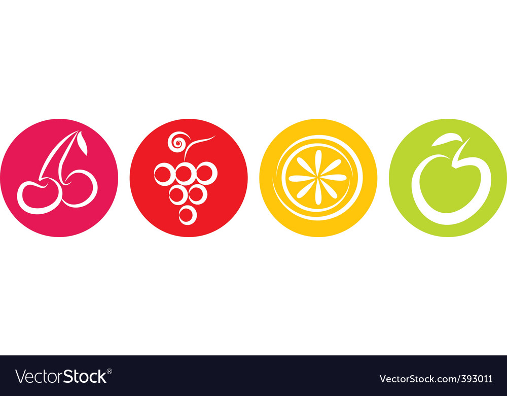 Fruits icon vector | Price: 1 Credit (USD $1)