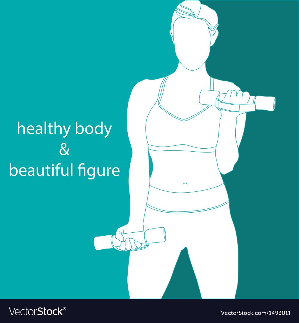 Healthy body  beautiful figure vector | Price: 1 Credit (USD $1)