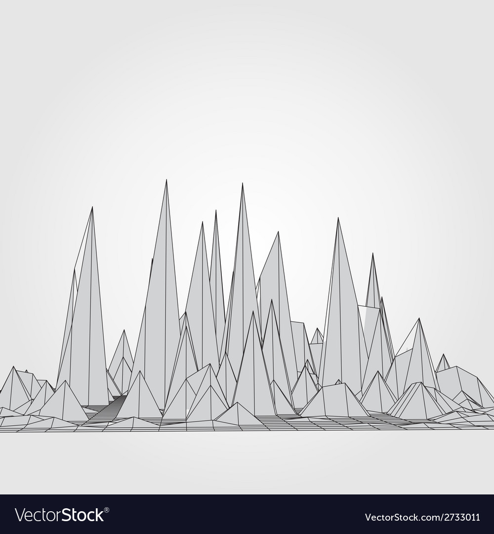Mountains 3d concept vector   Price: 1 Credit (USD $1)
