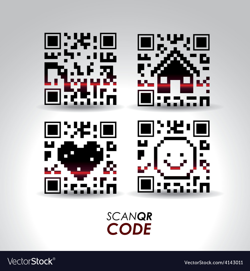 Scan qr code design vector | Price: 1 Credit (USD $1)