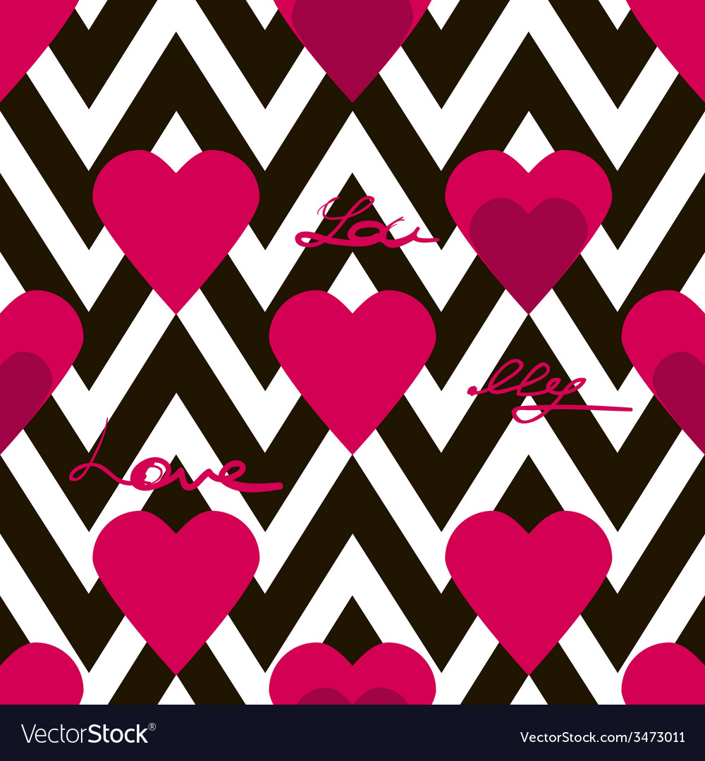 Seamless valentines day pattern with hearts vector | Price: 1 Credit (USD $1)
