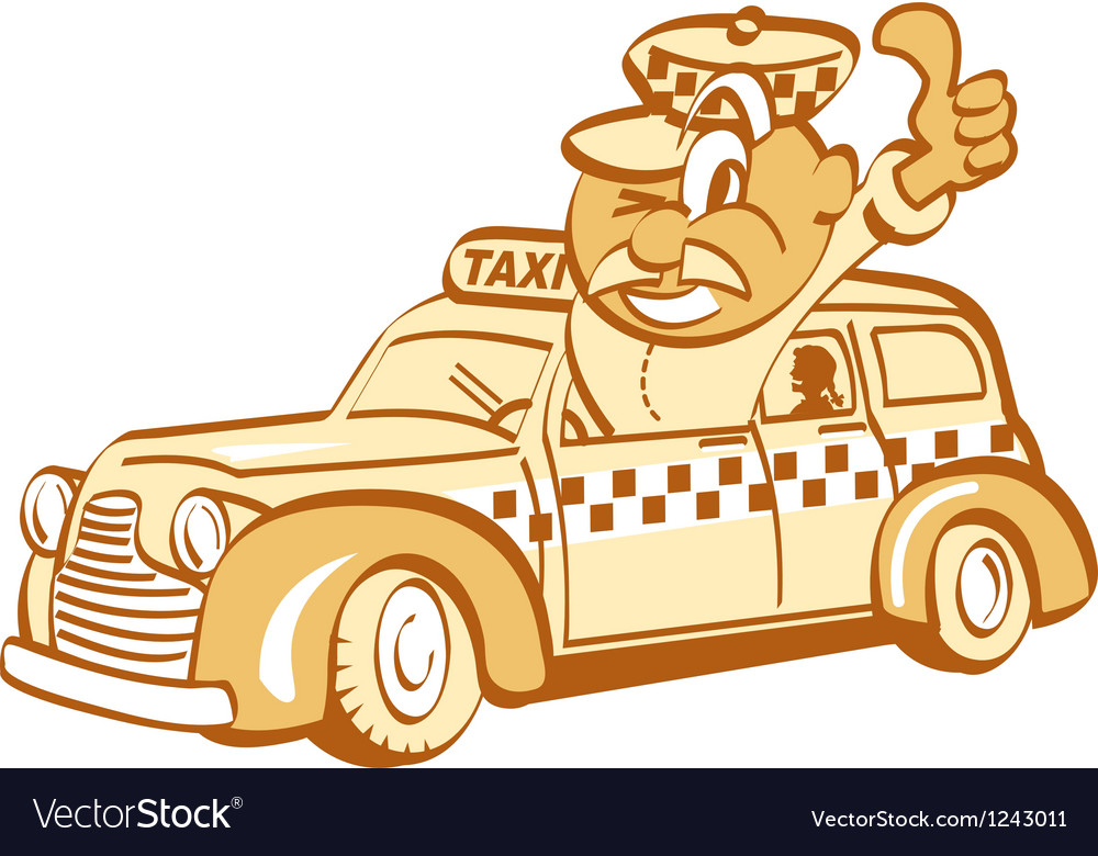 Taxi driver man vector | Price: 1 Credit (USD $1)