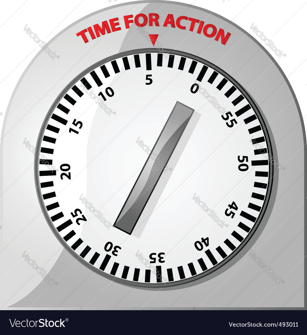 Time for action vector | Price: 1 Credit (USD $1)