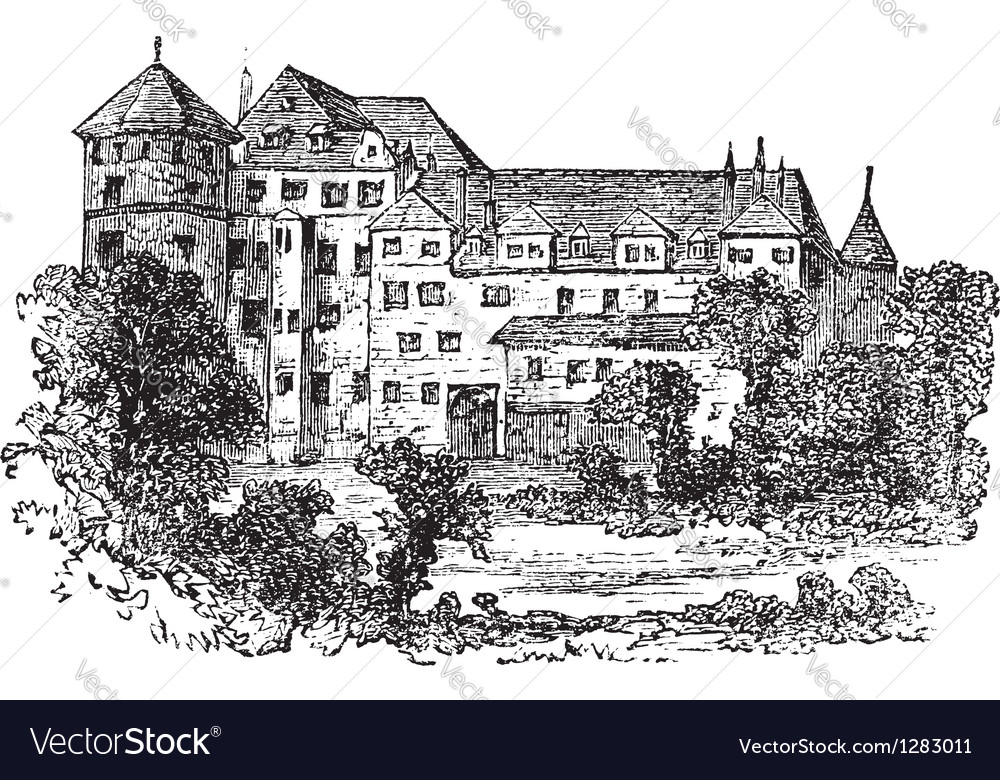 Vintage stuttgart palace vector | Price: 1 Credit (USD $1)
