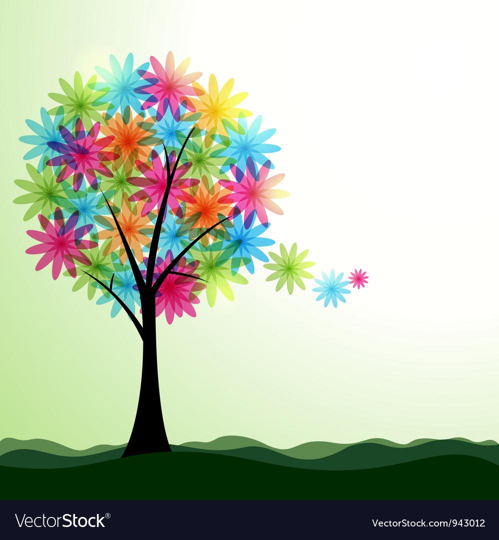 Artistic spring or summer landscape vector | Price: 1 Credit (USD $1)