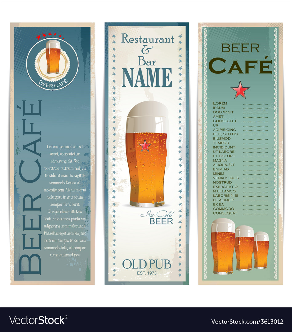 Beer cafe design template vector   Price: 1 Credit (USD $1)