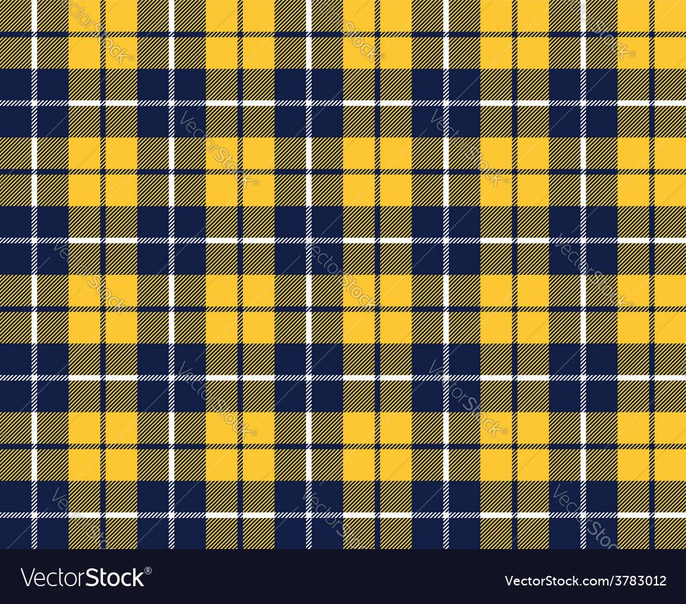 Blue orange tartan fabric texture pattern seamless vector | Price: 1 Credit (USD $1)