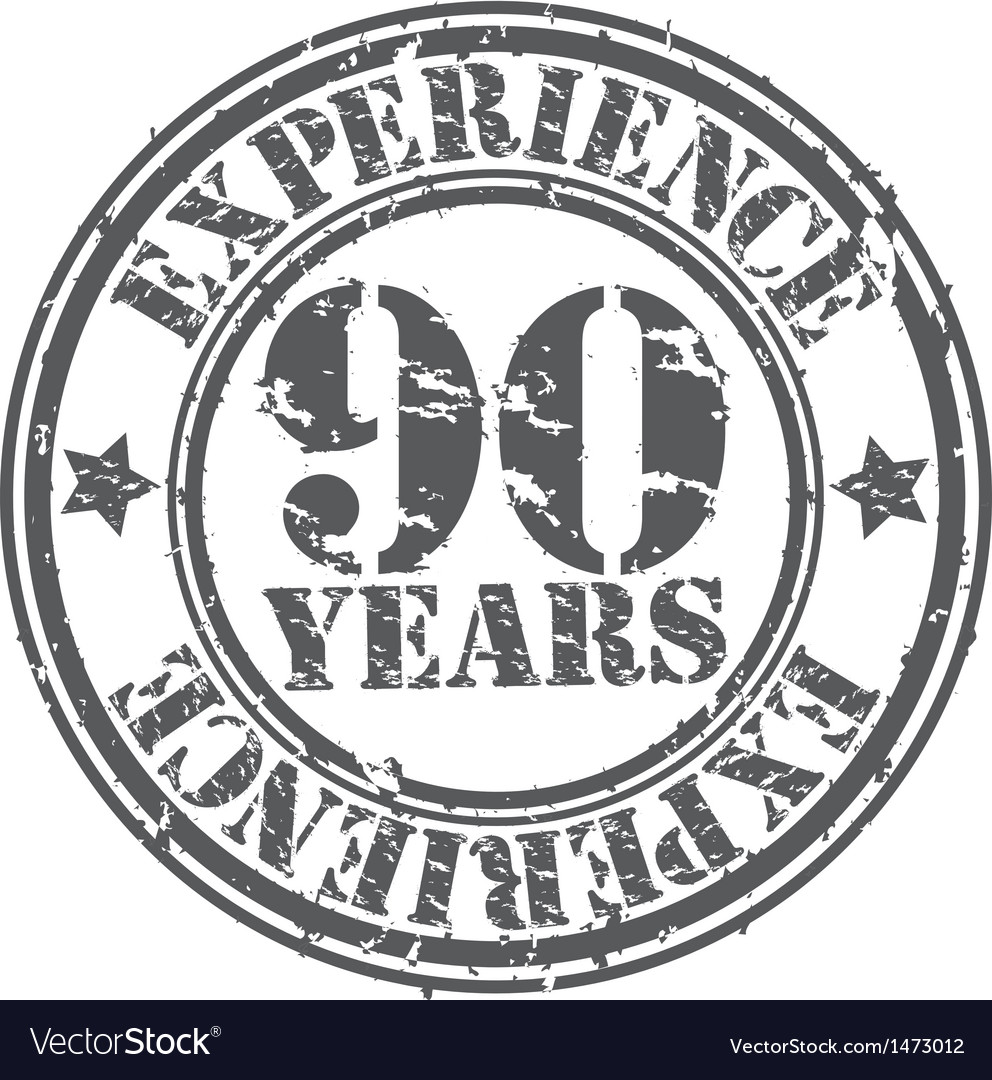 Grunge 90 years of experience rubber stamp vector | Price: 1 Credit (USD $1)