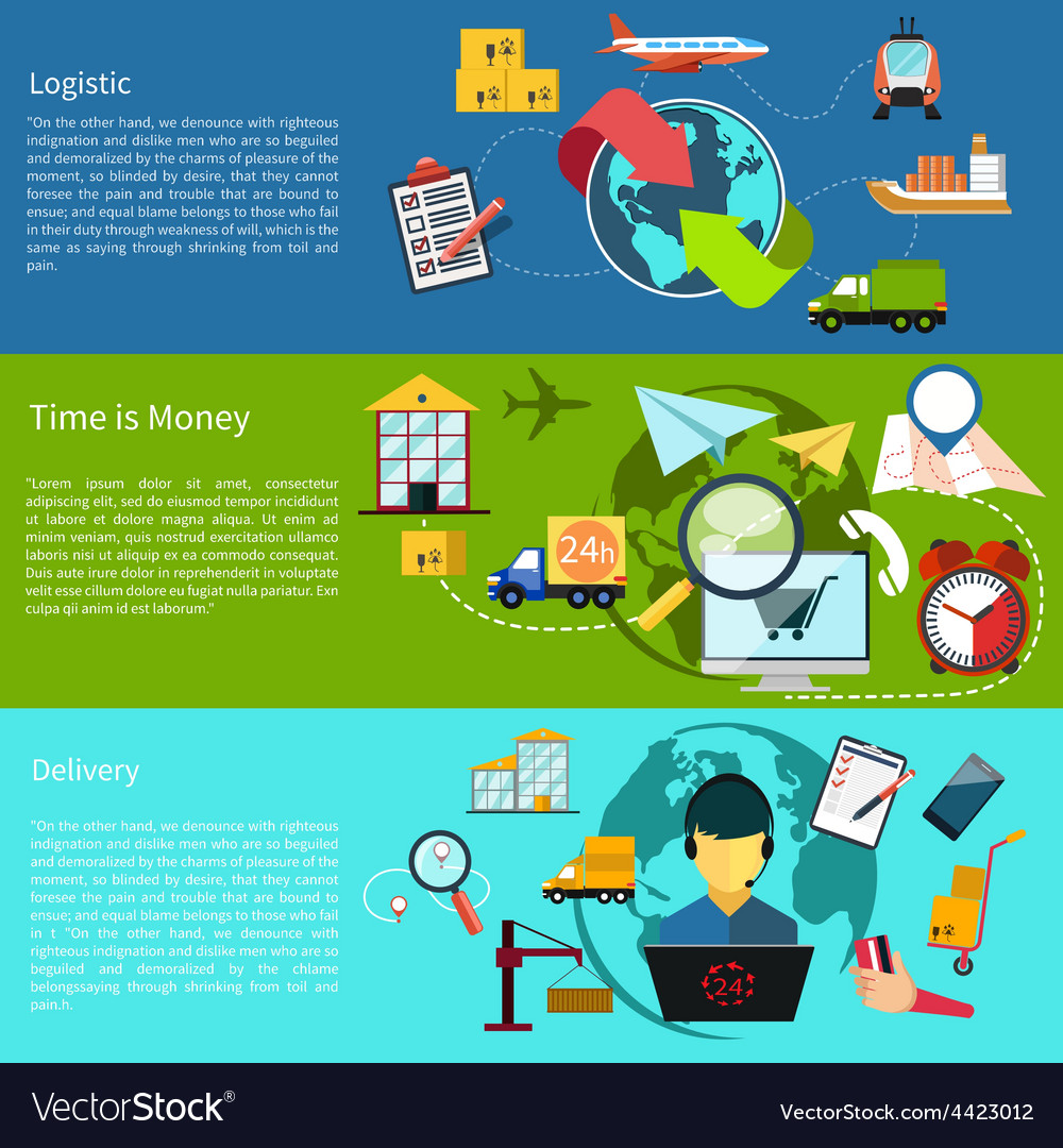 Logistic time is money and delivery vector | Price: 1 Credit (USD $1)