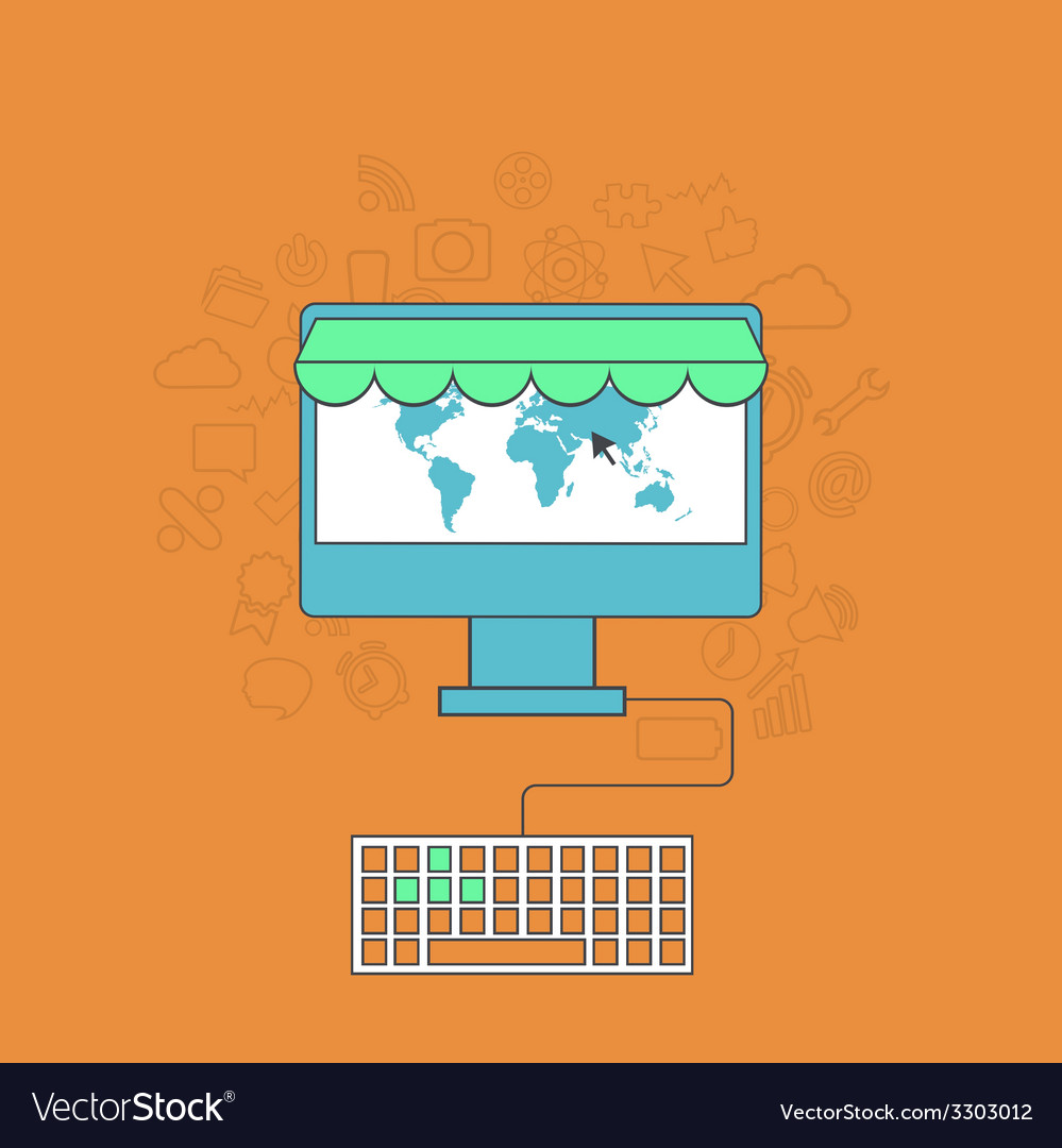 Modern online shop background vector   Price: 1 Credit (USD $1)